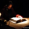 <h3>Crochet (François Levantal) à son bureau (devant un grimoire confectionné par mes soins)</h3>