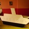 <h3>La salle de bain, avec le «petit navire» du point de vue de la caméra</h3>