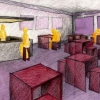 <h3>Café d'un cinéma d'arts et d'essais, Ecole Boulle, 1998</h3>