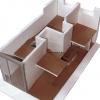 <h3>Maquette - projet de réhabilitation des anciens locaux Point P Quai de Valmy (75010)(aujourd'hui le point Ephémère) en résidence étudiante</h3>