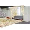 <h3>Vue de l'entrée (impression carte routière au sol et au mur, illustration Babeth Lafon au mur)</h3>
